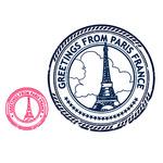 ттф штамп париж с роз