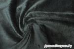 коротковорсный велюровый мех 5 мм темный хаки (за 0,5 м)
