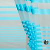 Тюль сетка жаккард Н-2,95м в полоску бирюза.5 метров.Готовая ширина 2.8