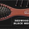 RedWood BLACK MIDI Расчёска с пластиковыми прутиками  и  капельками (7 мм)