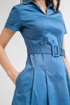 Платье с поясом PL889/neptune