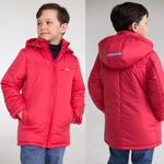 Куртка демисезонная для мальчика, цвет красный, рост 122-158
