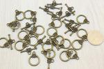 """Подвеска металлическая """"Соединитель кольцо"""" 13 мм+""""Соединитель балка"""" 20*8 мм, цв. бронза, упак. 40шт M50/56"""