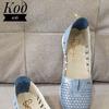 Код 106 Натур кожа Цвет голубой сатин Размеры 36-41