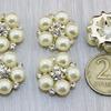 Флоризель металл, цв. серебро d-20мм, упак. 5шт B6/15