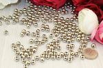 Бусины под жемчуг (серебро) 6мм в упаковке 500 гр. B170/160