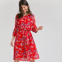 Шифоновое платье с поясом PL973/riona