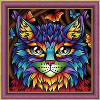 Картина стразами (набор) «Радужный кот»
