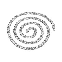 Цепь Бисмарк плоский с алмазной огранкой родированный Артикул:БГПр-70