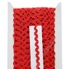 """Тесьма с люрексом """"Вьюнок"""" 0,6 см*25 ярд (ВР-338) красный Арт. 201-129"""