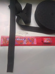 Резинка вязаная стандарт черный 25 мм (за 1 м)