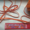 Резинка продажная цветная оранжевый 8 мм (за 1 м)