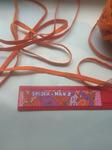 Резинка продежная цветная оранжевый 8 мм (за 1 м)