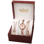 Burgi BUR212RG-S Women's Alloy Rose Gold-tone Dial