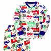 Пижама тёплая для мальчика Машины, молочный