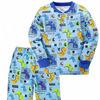 Пижама тёплая для мальчика Дино, синий