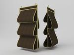Кофр для сумок, двусторонний, 5 карманов, 40х70см