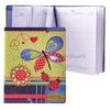 Дневник школьный Коллаж с бабочкой (7БЦ с поролоном, обложка из искусств.кожи с цветной вышивко
