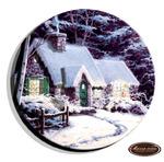 Зима миниатюра в круге