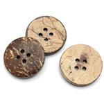 Пуговицы кокосовые круглые 30 мм, 12 шт  ПП-КК-3000