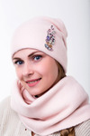 комплект , снуд и шапка 56-58 см подклад флис Шерсть 50% - Акрил 50%