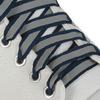 Шнурки с плоским сечением со светоотражающей полосой 10мм*70см тёмно-синий
