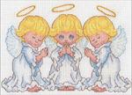 Набор для вышивания DIMENSIONS арт.DMS-70-65167 Маленькие ангелочки 18x13 см