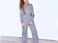 Полукомбинезон-брюки зимний для девочки, модель З044Х