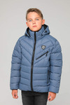 Куртка подростковая зимняя ЗМП-02 серо-голубой