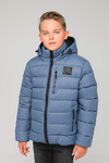 Куртка подростковая зимняя ЗМП-01 серо-голубой