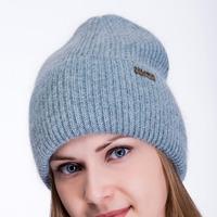шапка 56-58 см двухслойная Шерсть 60% -10%полиамид- 30% ангора