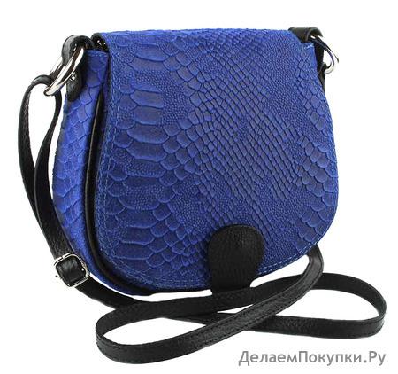 Сумка женская из телячьей кожи TB-600-3A Blu Brilliance Piton
