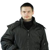 """Куртка демисезонная """"БОМБЕР"""" цвет: Черный"""