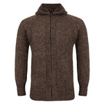 Шерстяной свитер капюшон