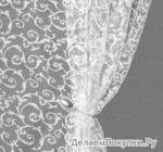 Органза-флок Мони Артикул: 7009-1 белый Ширина рулона: 2,8 м