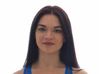 """Бюстгальтер бесшовный для спорта """" Lady Part 1573 """" синий р: 42-52"""