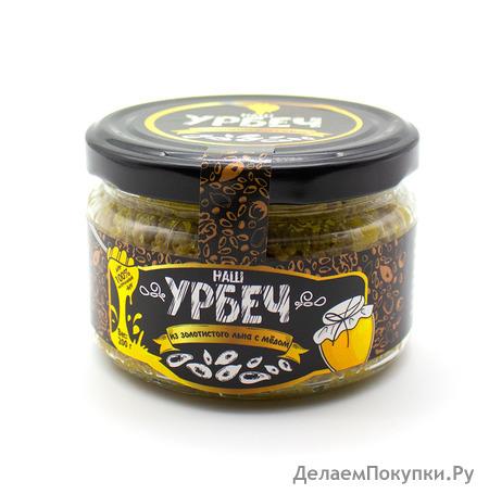 Урбеч из золотистого льна с медом - НОВИНКА