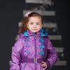 """пальто """"АНАБЕЛЬ"""" лиловый размер 122-128"""