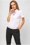 Блуза с планкой из гипюра