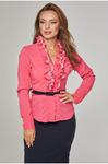 Блуза с декоративным воротником д/р
