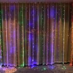 Гирлянда шторы мультицвет 3х2м