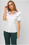 Блуза с двойными рюшами