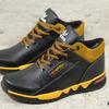 Мужские кожаные зимние кроссовки Adidas   Код: К 45 рыж