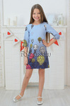 Платье нарядное для девочки арт. ИР-1801, цвет голубой/воздушный шар