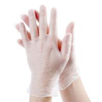 Перчатки виниловые прозрачные ELMERCK-ECO размер M 1уп/50пар