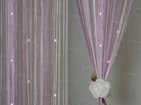 Шторы-нити с камнями Артикул: 5/фиолет-роз с камнями  Состав ткани: 100% полиэстер