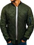 Куртка мужская переходная bomberka зеленый Denley AK76-А