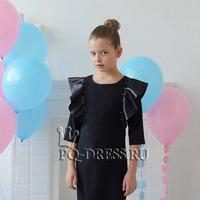 Платье нарядное для девочки арт. ИР-1802, крылышки, цвет черный