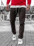 Брюки мужские joggery коричневые Denley 1121