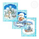 Набор новогодних полотенец рогожка (3 шт)